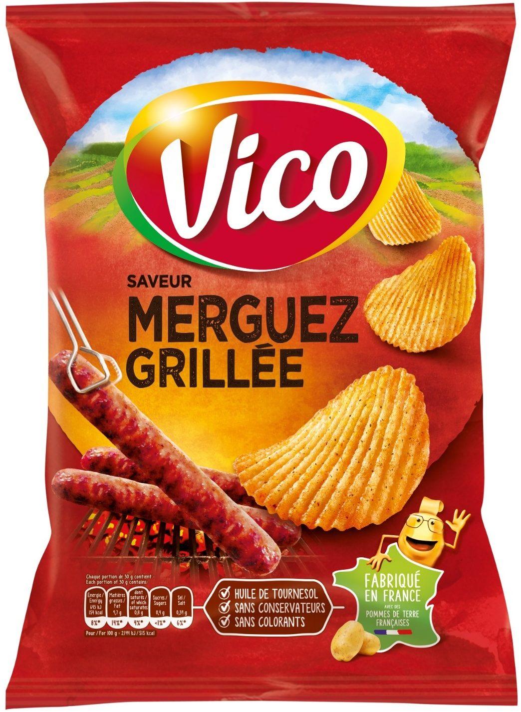 Vico Chips Saveur Merguez Grillée - Produit - fr