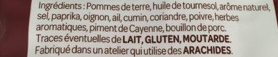 Chips Saveur Merguez Grillée - Ingrediënten
