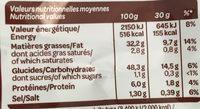 Vico Chips Saveur Merguez Grillée - Informations nutritionnelles - fr