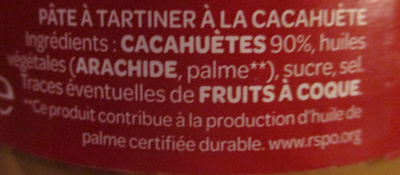 Pâte à tartiner Onctueuse Curly Cacahuète - Ingrédients