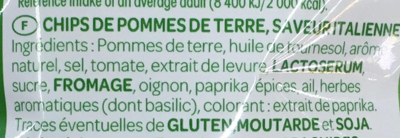 Saveur Italienne - Ingrediënten