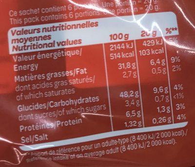 Saveur Poulet grillé - Voedingswaarden - fr