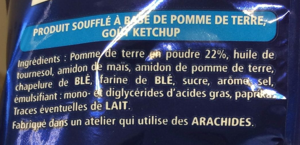 Monster Munch goût Ketchup 135g - Ingredients