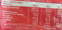 Curly Cacahuète l'Original - Format Party 230 g - Informations nutritionnelles
