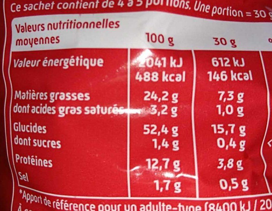 Curly cacahuète l'Original 145 g - Format familial - Nutrition facts