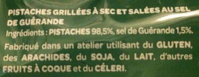 Pistaches au sel de guerande - Ingrediënten - fr