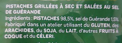 Pistaches au sel de Guérande - Ingrediënten