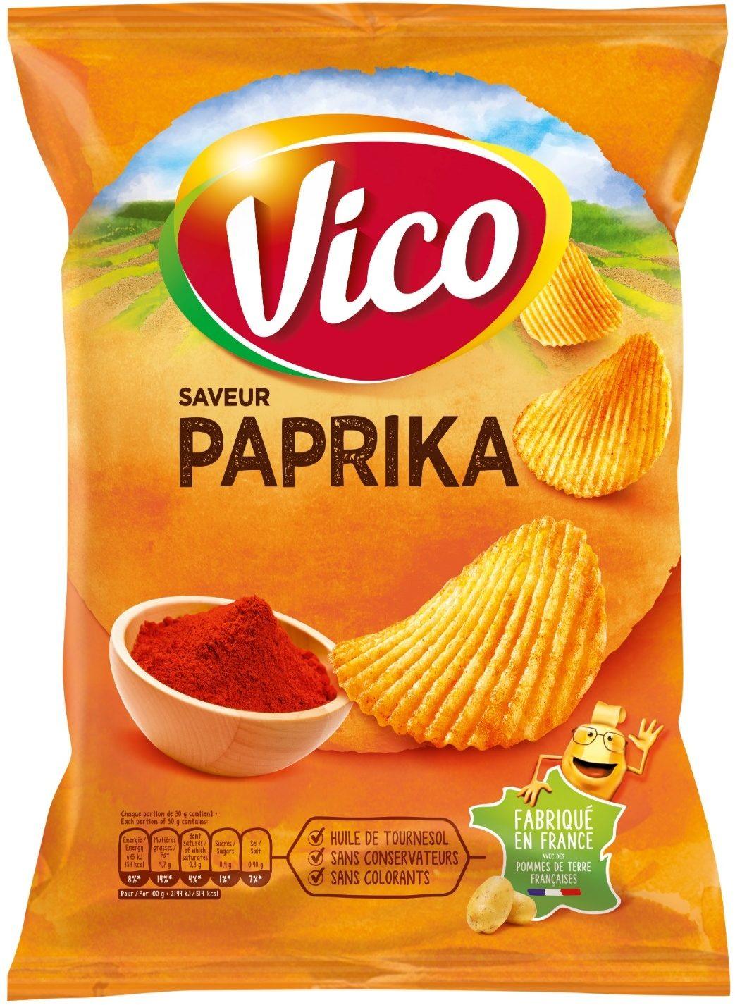 Chips ondulées Vico, saveur Paprika - Product - fr