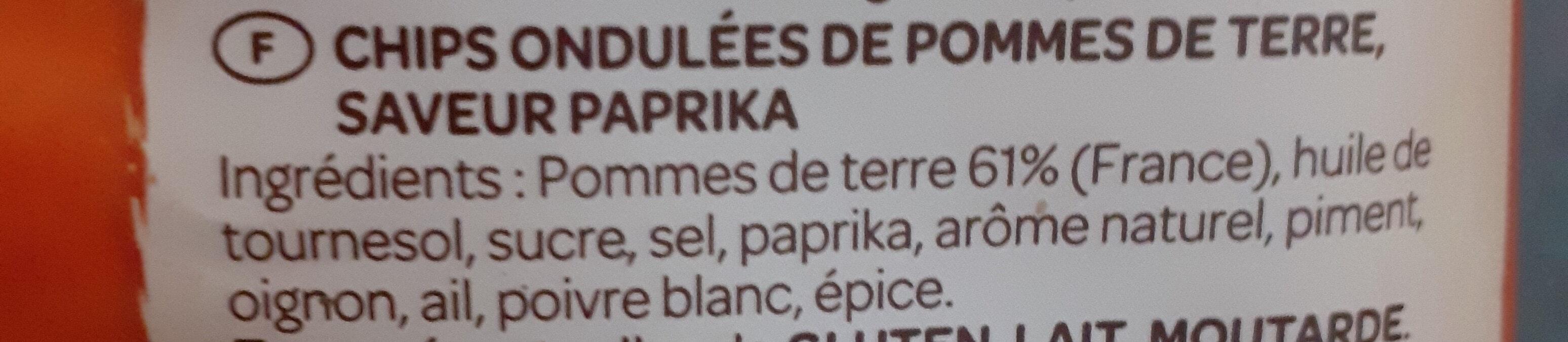 Chips ondulées Vico, saveur Paprika - Ingrédients - fr
