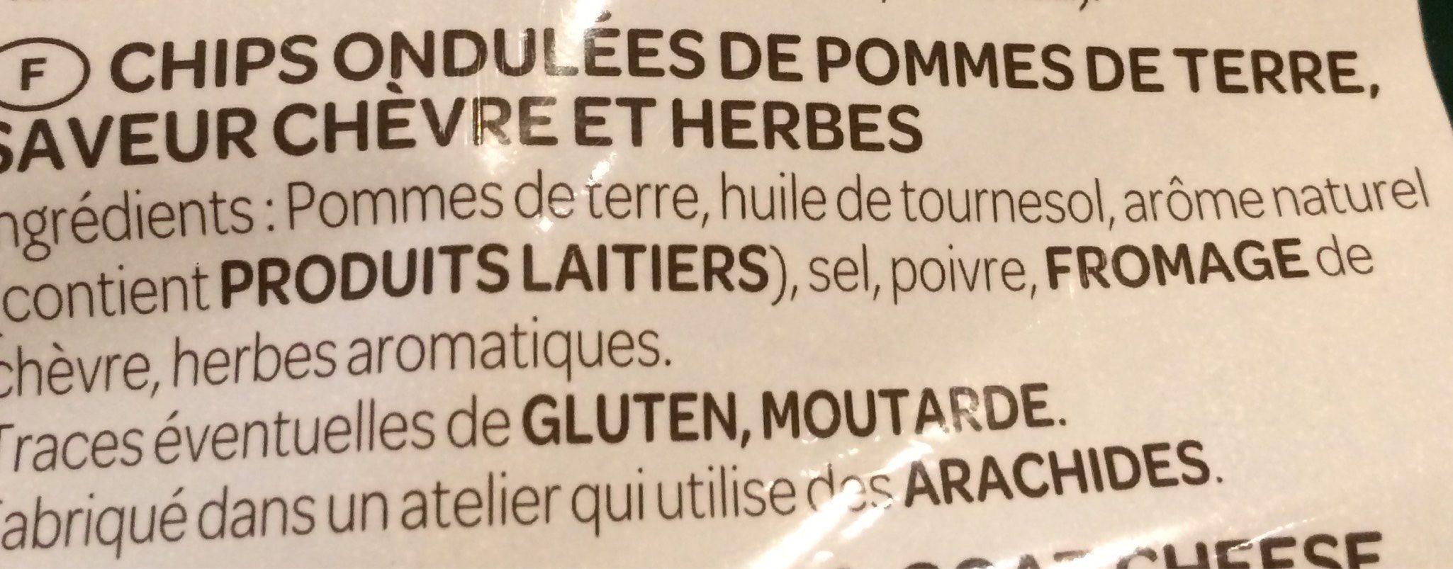 Chips saveur Chèvre Chaud & Herbes 360g - Ingredients - fr