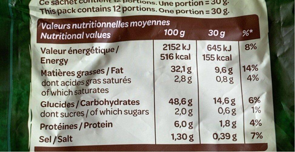 Chips saveur Chèvre Chaud & Herbes 360g - Nutrition facts - fr
