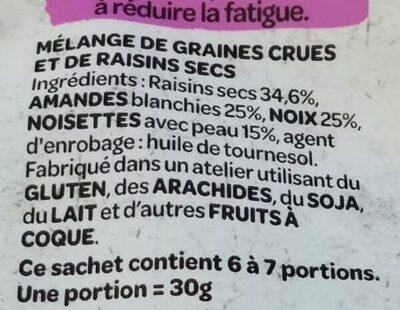 Natur'&Bon Mélange de noix nobles non salé - Ingrédients