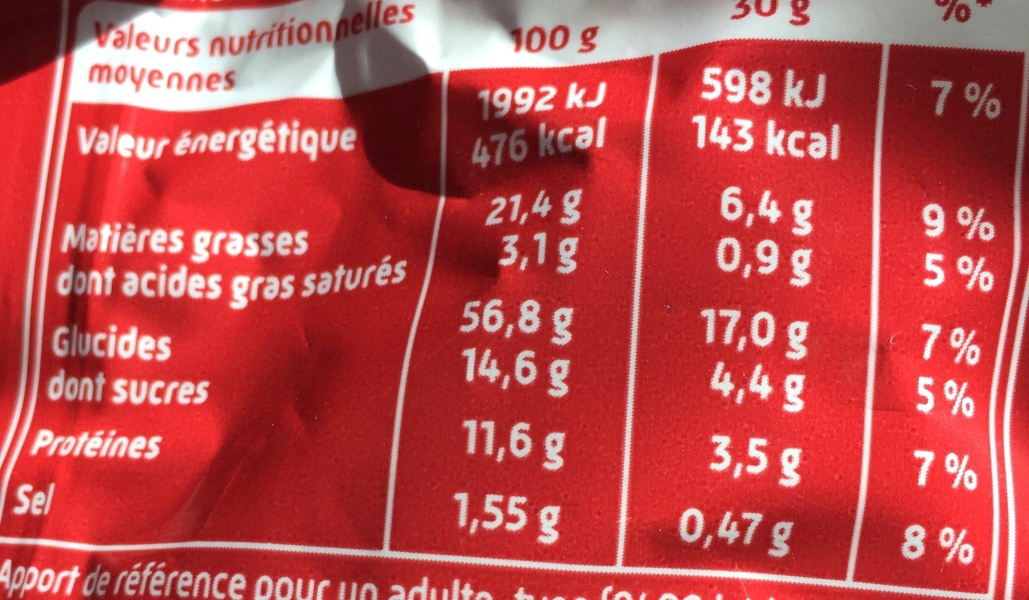 Curly Donut Cacahuete caramélisée 100 g - Informations nutritionnelles