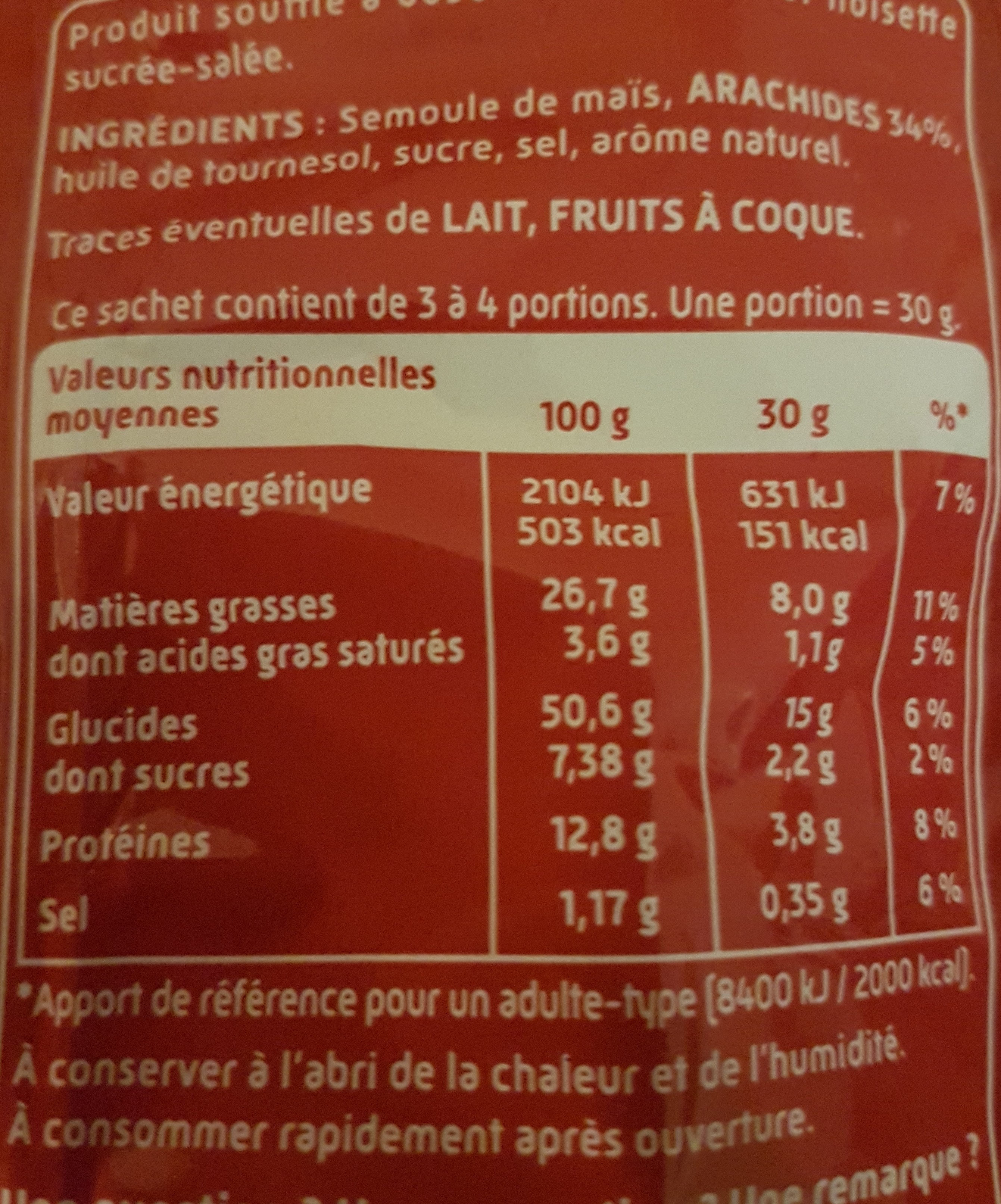 Curly Donuts goût Noisette - Nutrition facts - fr
