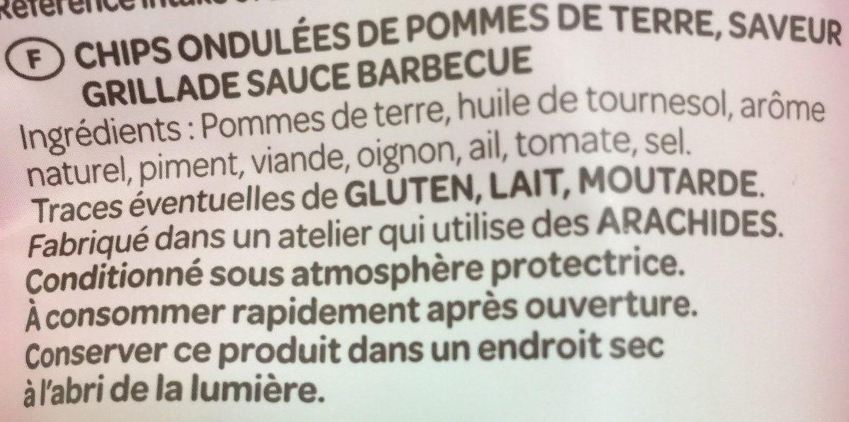 Chips saveur grillade sauce barbecue - Inhaltsstoffe