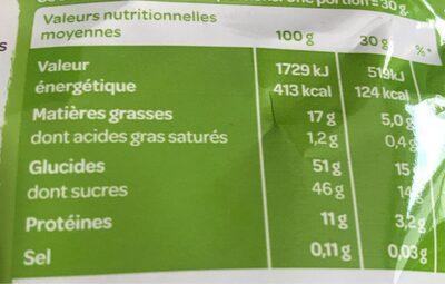 Apérifruits Sensation Fraicheur - Nutrition facts