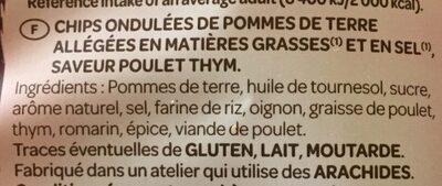 Saveur Poulet & Thym - Ingrédients