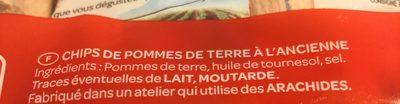 Chips à l'ancienne au sel fin - Ingrédients - fr