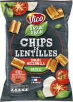 Chips de lentilles tomate mozzarella - Produit