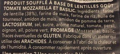 Chips de lentilles tomate mozzarella - Ingrédients