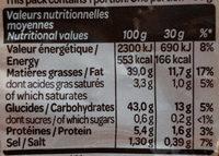 Chips à l'ancienne au sel fin - Voedigswaarden