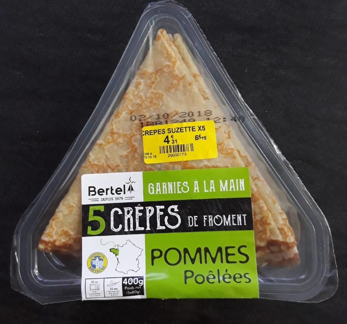 5 Crêpes de Froment Pommes Poêlées - Produit - fr
