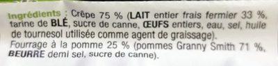 5 Crêpes de Froment Pommes Poêlées - Ingrédients - fr