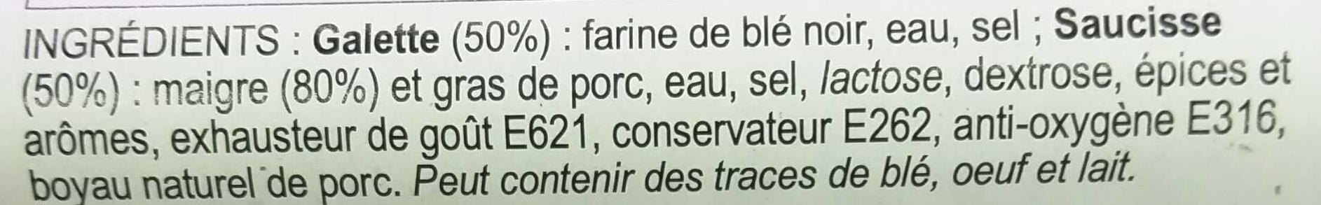 La Galette Saucisse - Ingredients - fr