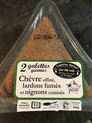 Galettes garnies chèvre, lardons fumés/oignons - Product - fr