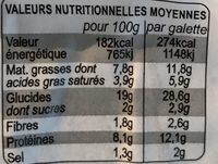 Galettes garnies chèvre, lardons fumés/oignons - Nutrition facts - fr