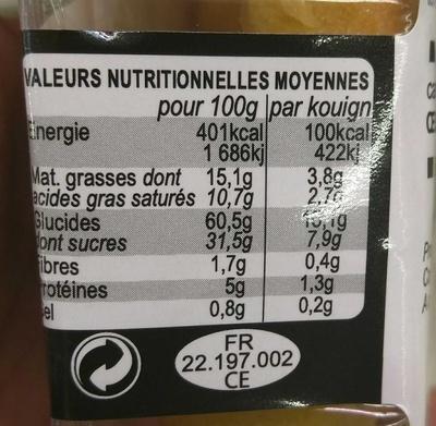 Kouign Amann Façon Mignardises - Nutrition facts - fr