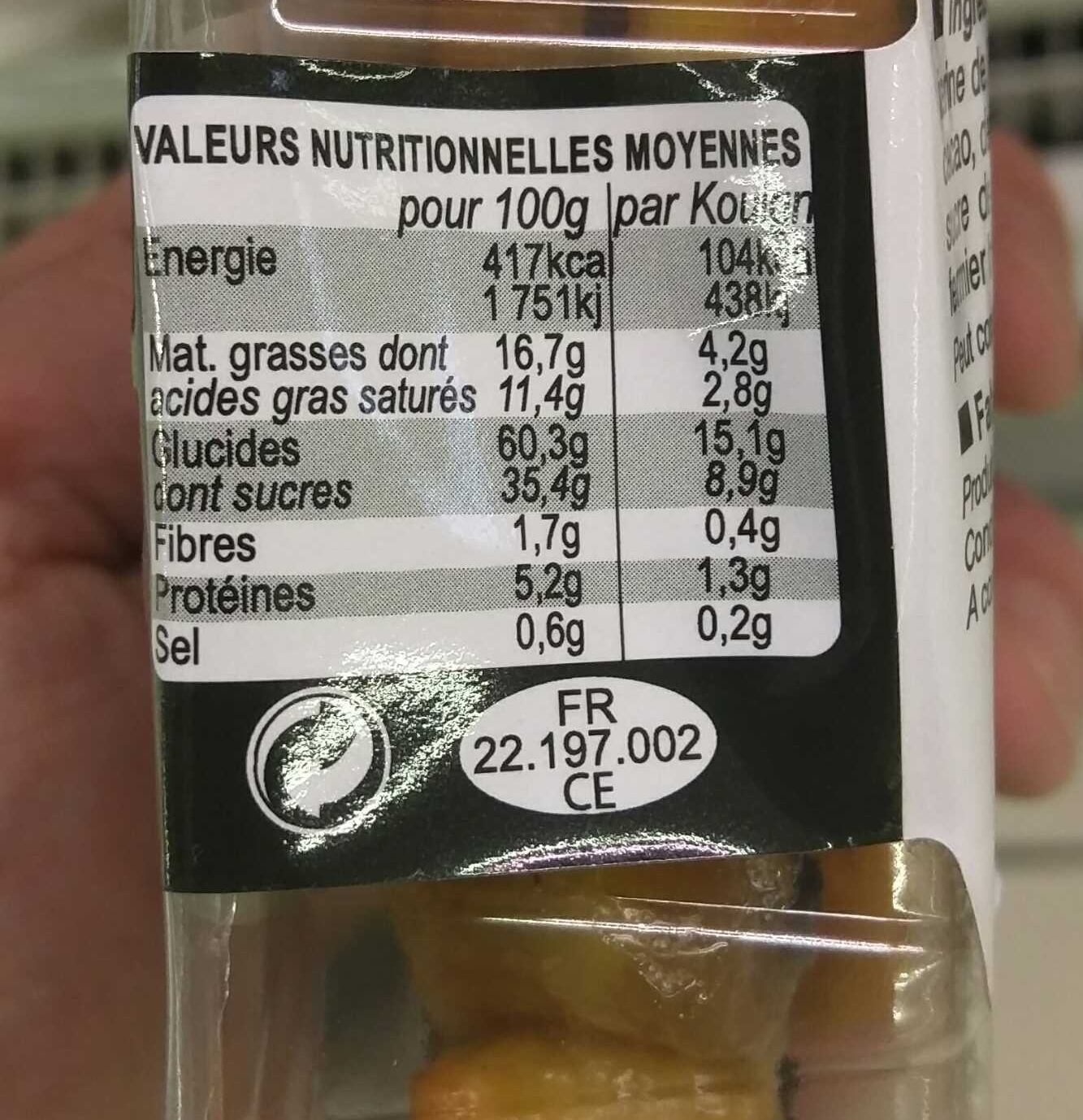 Kouign Chocolat Façon Mignardises - Nutrition facts - fr