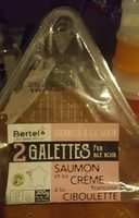 2 galettes pur blé noir saumon crème française à la ciboulette - Product - fr
