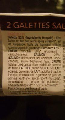 2 galettes pur blé noir saumon crème française à la ciboulette - Ingredients - fr