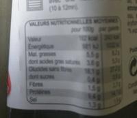 La complète - Galette pur blé noir - Informations nutritionnelles