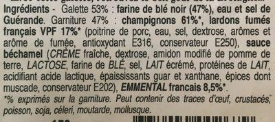 La Forestière - Ingrédients