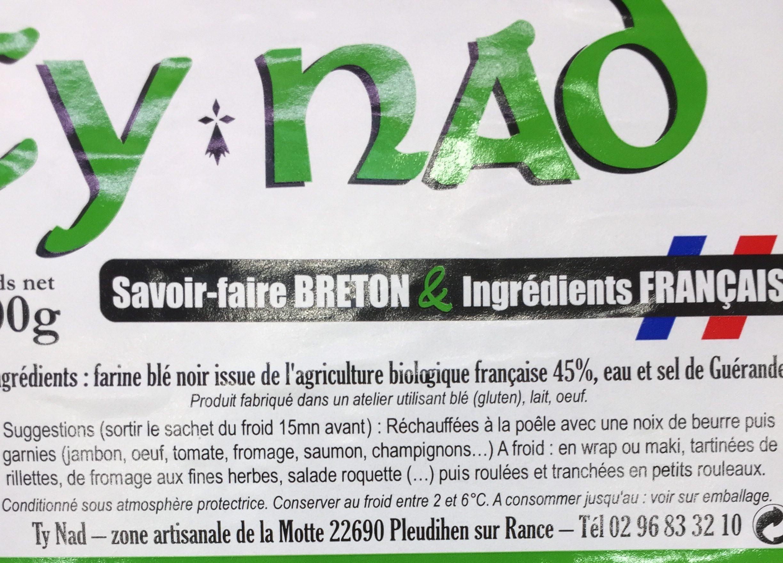 4 galettes bio blé noir biologique & sel de Guérande - Ingrédients