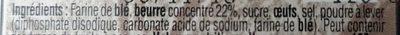 Palets  de Bretagne - Ingredienti - fr