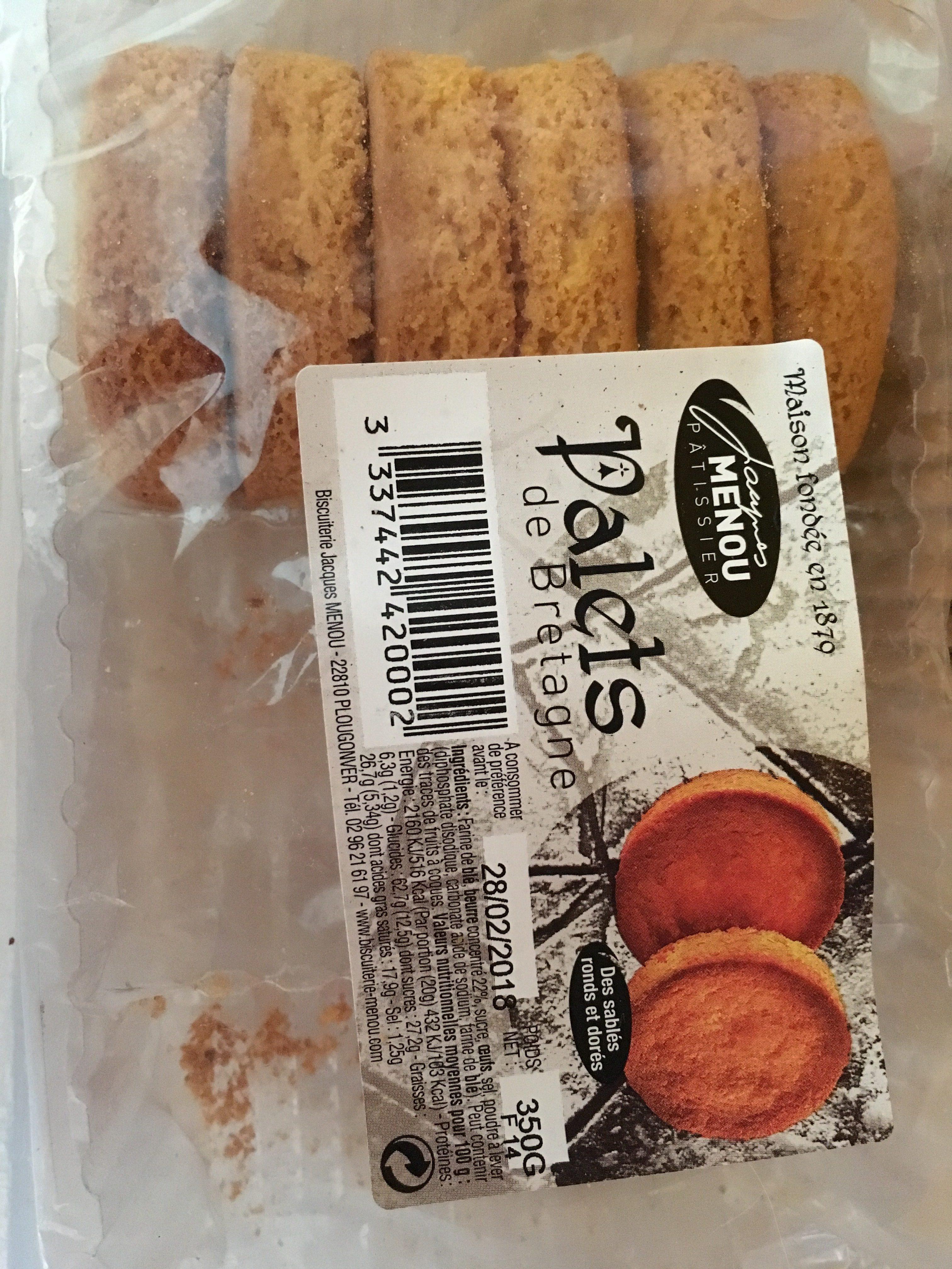 Palets de Bretagne - Ingrediënten