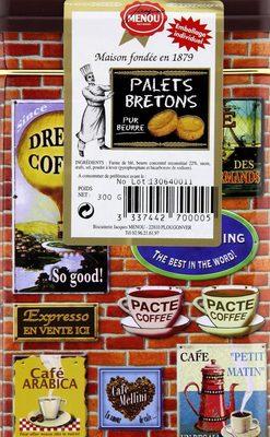 Palets Bretons Pur beurre (boite métal) - Produit