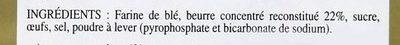 Palets Bretons Pur beurre (boite métal) - Ingrédients