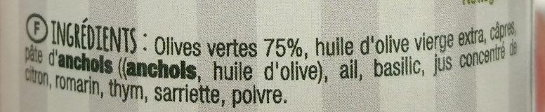 Mets de Provence tapenade d'olives vertes - Ingredienti - fr