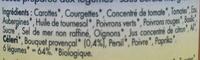 Sauce 6 légumes aux herbes de Provence bio - Inhaltsstoffe - fr