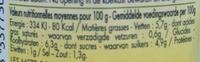 Sauce 6 légumes aux herbes de Provence bio - Nährwertangaben - fr
