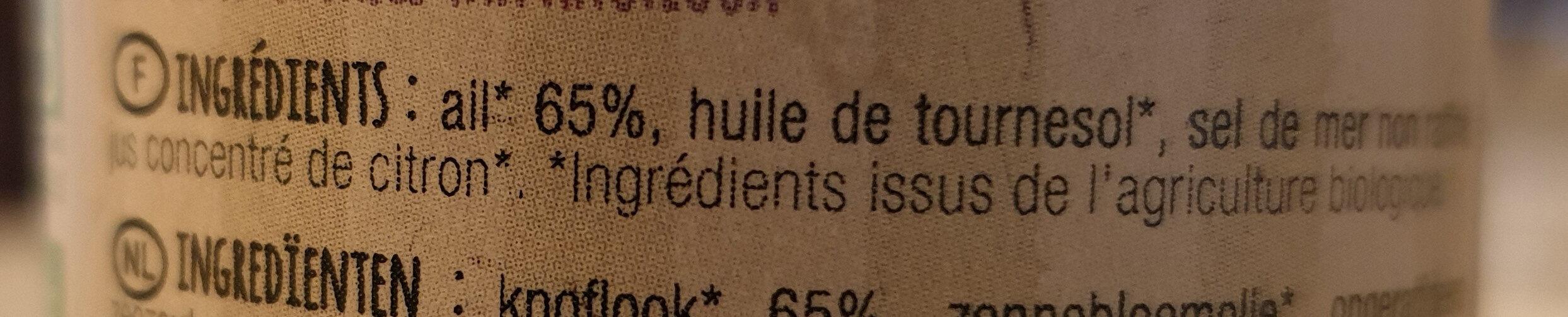 Pulpe d ail - Ingrediënten
