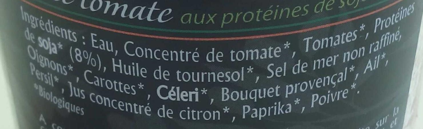sauce bolognaise végétale - Ingredients - fr