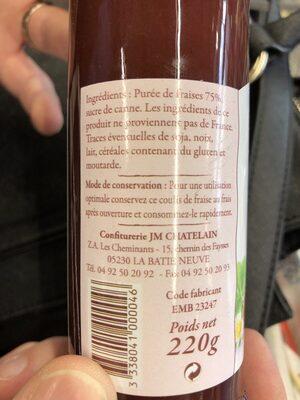 Coulis de fraises - Ingrediënten - fr