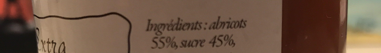 Confiture extra d abricots - Ingrédients - fr