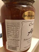 Confiture extra d abricots - Informations nutritionnelles - fr