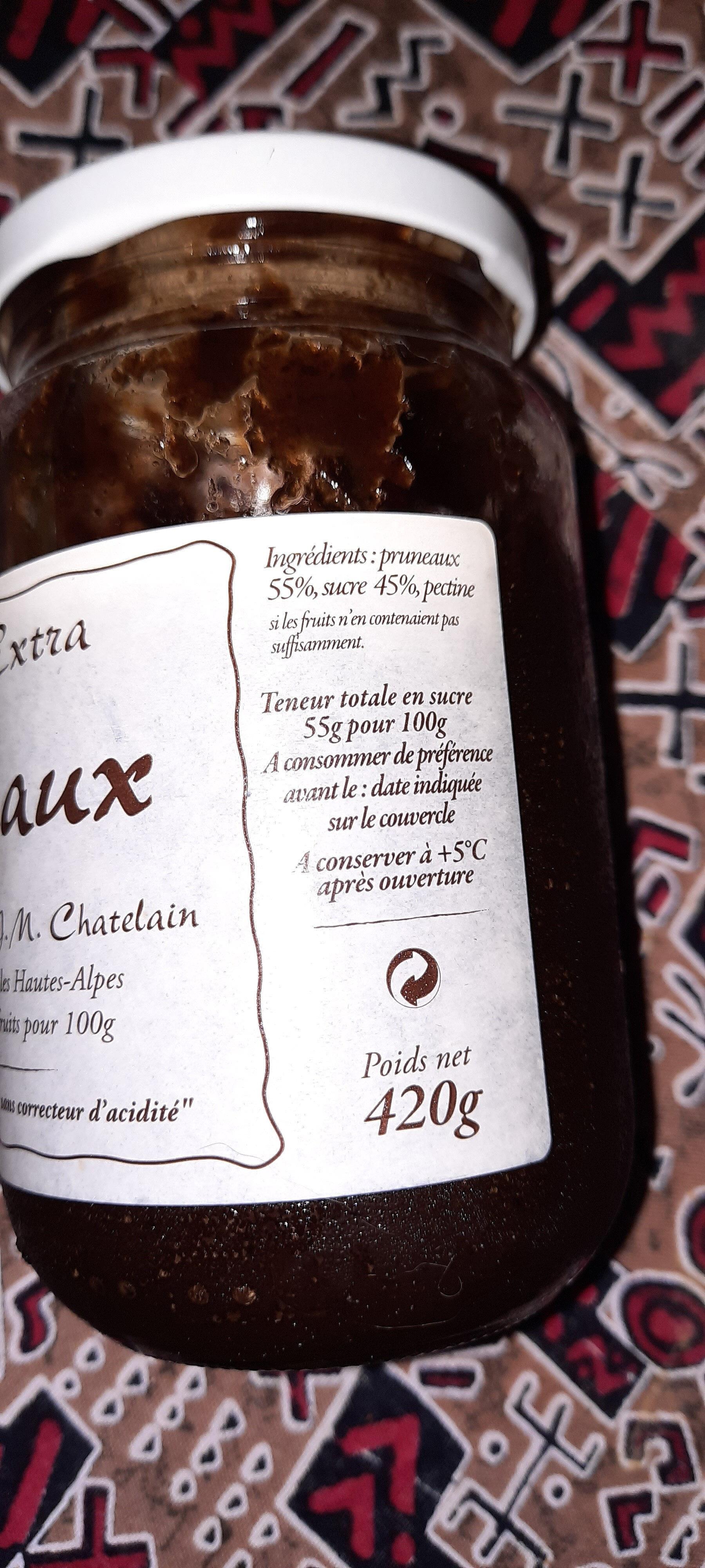 Confiture extra pruneaux - Ingrédients - fr